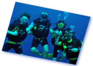 euro divers diving with friends