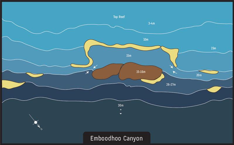 Scuba diving Maldives Emboodhoo Canyon