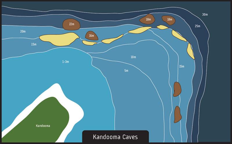 Scuba diving Kandooma Caves Maldives