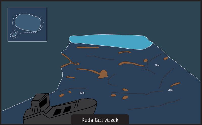 Scuba diving Kuda Giri Wreck Maldives