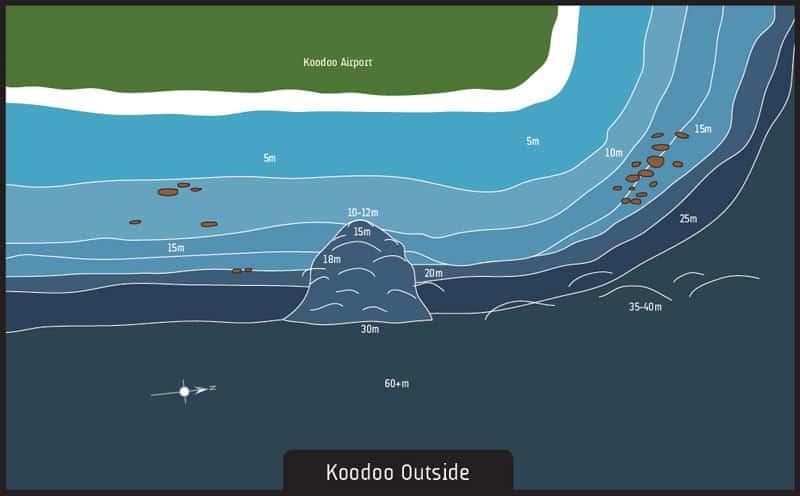 Scuba diving Maldives Koodoo Outside