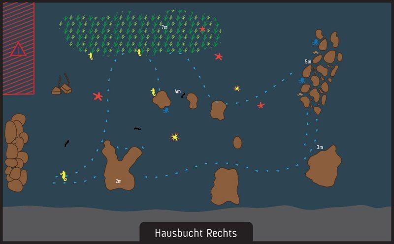 scuba diving hausbucht rechts