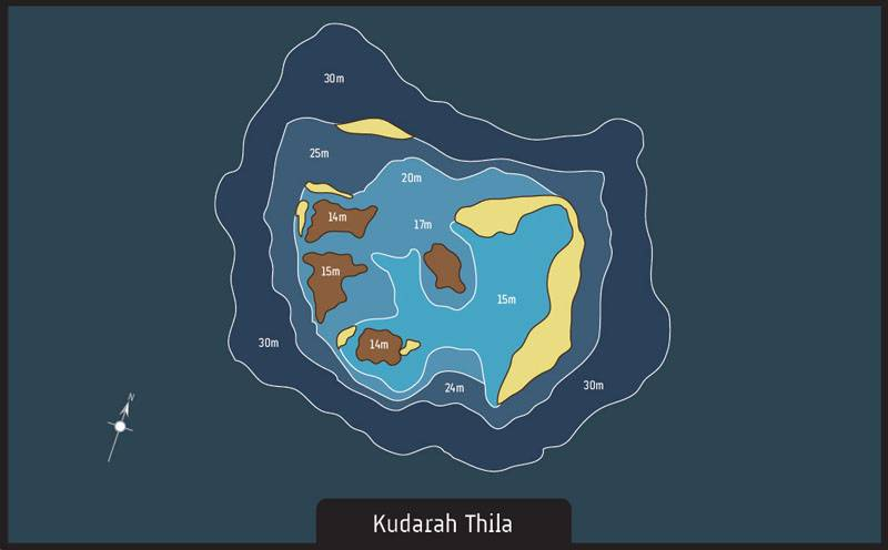 Dive site Maldives Kudarah Thila