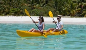 Slowly paddle in our lagoon and enjoy the colors of the ocean- this is a more leisurely way to enjoy a day in paradise.