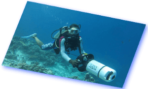 underwater scooter maldives euro divers