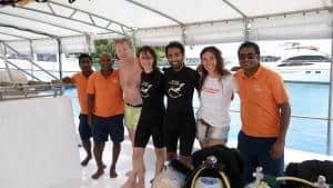 Euro-Divers Kurumba Maldives - Omar and Angel. OW