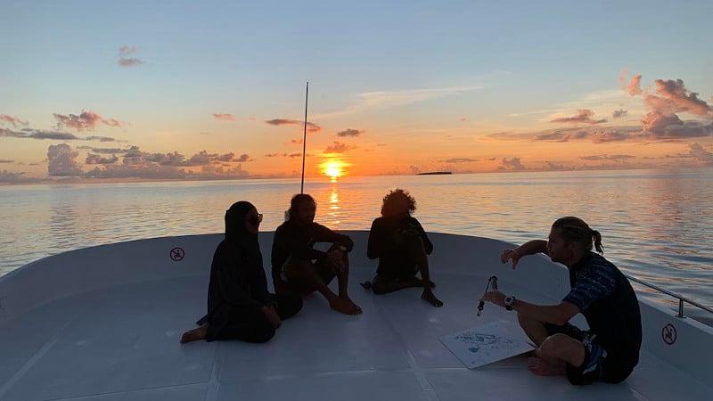 Night Scuba Diving Meeru Maldives