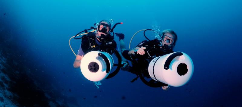 under water scooter maldives