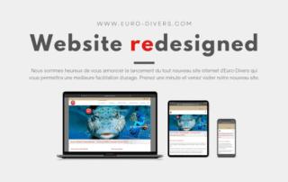 Notre nouveau site web Euro-Divers est maintenant en ligne!